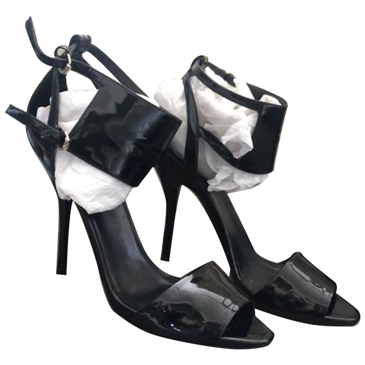 Gucci \N Black Patent leather Sandals for Women 40 EU