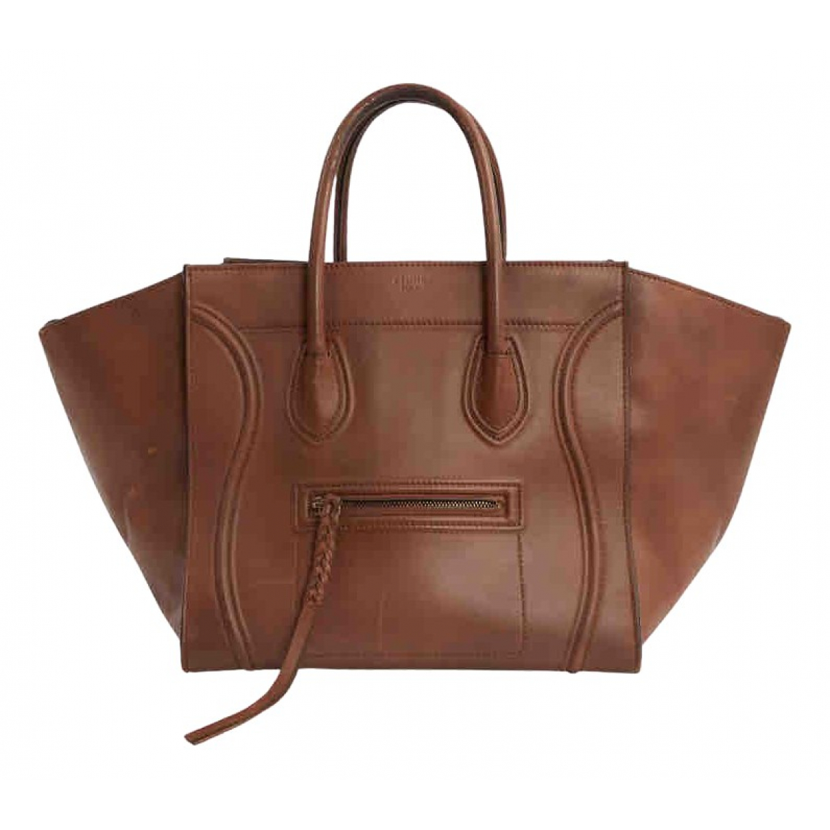 Celine Luggage Phantom Handtasche in  Braun Leder