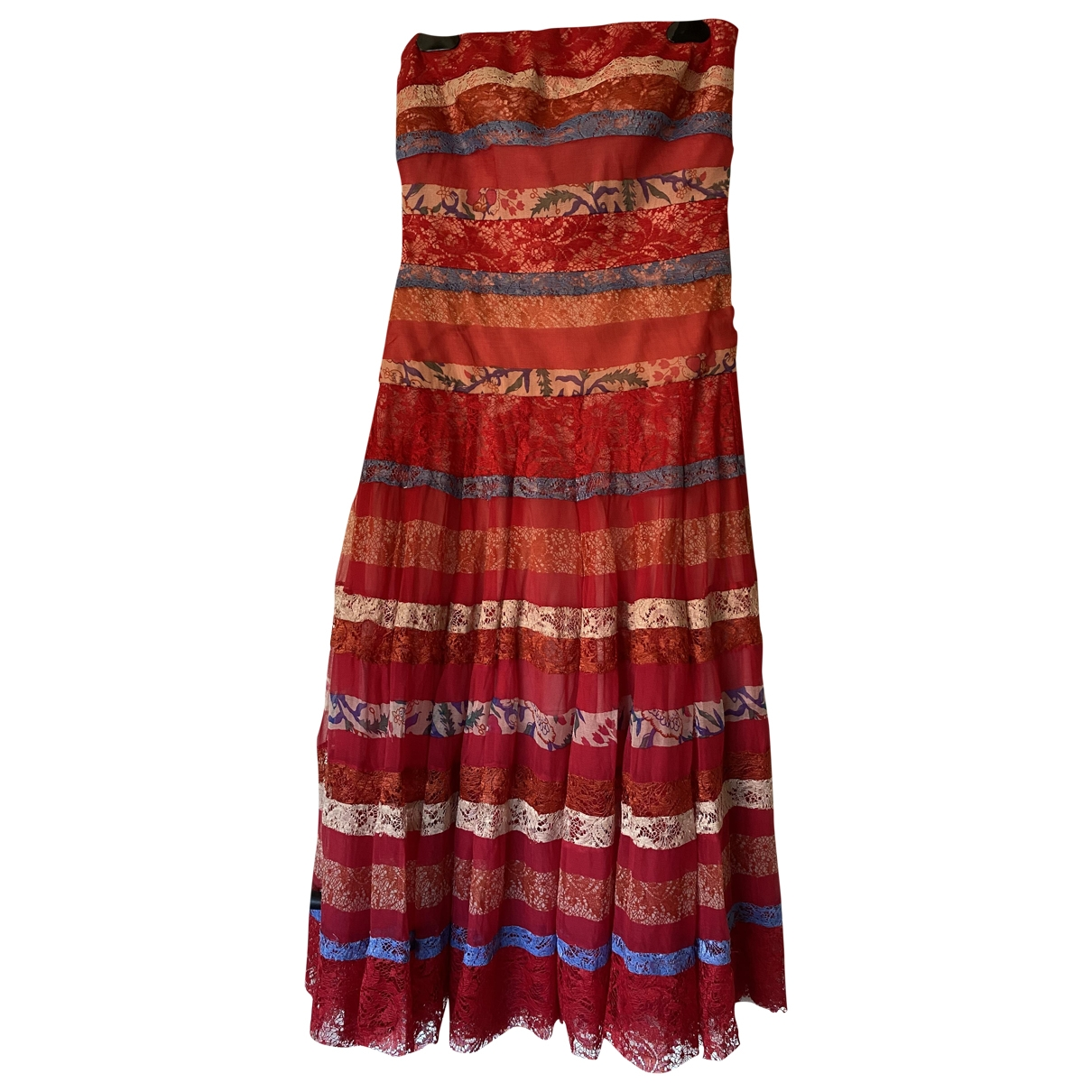 Tadashi Shoji \N Kleid in  Rot Seide