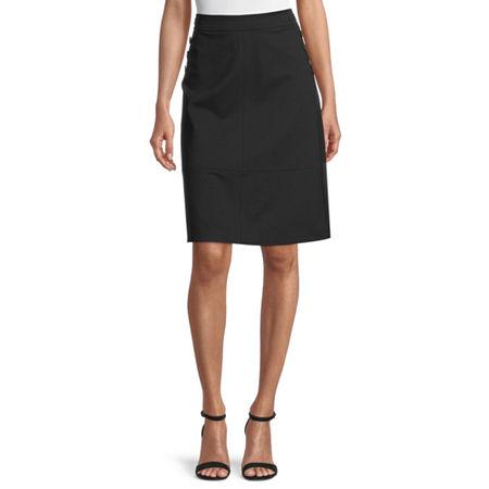 Liz Claiborne Womens A-Line Skirt, 12 , Black