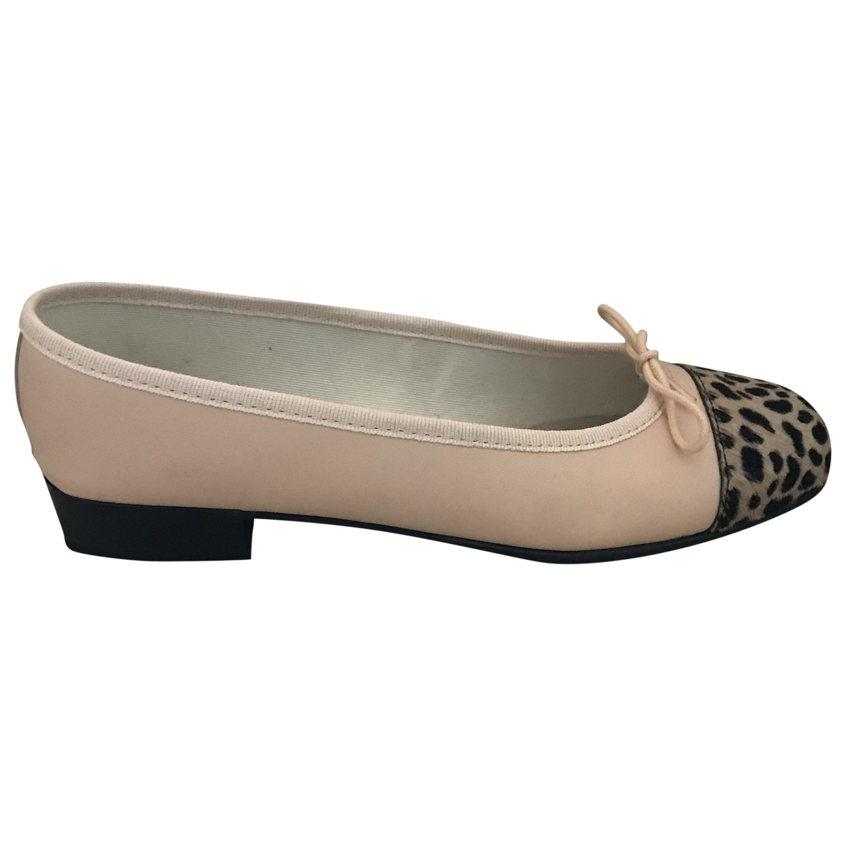 French Sole \N Pink Leather Ballet flats for Women 4 UK