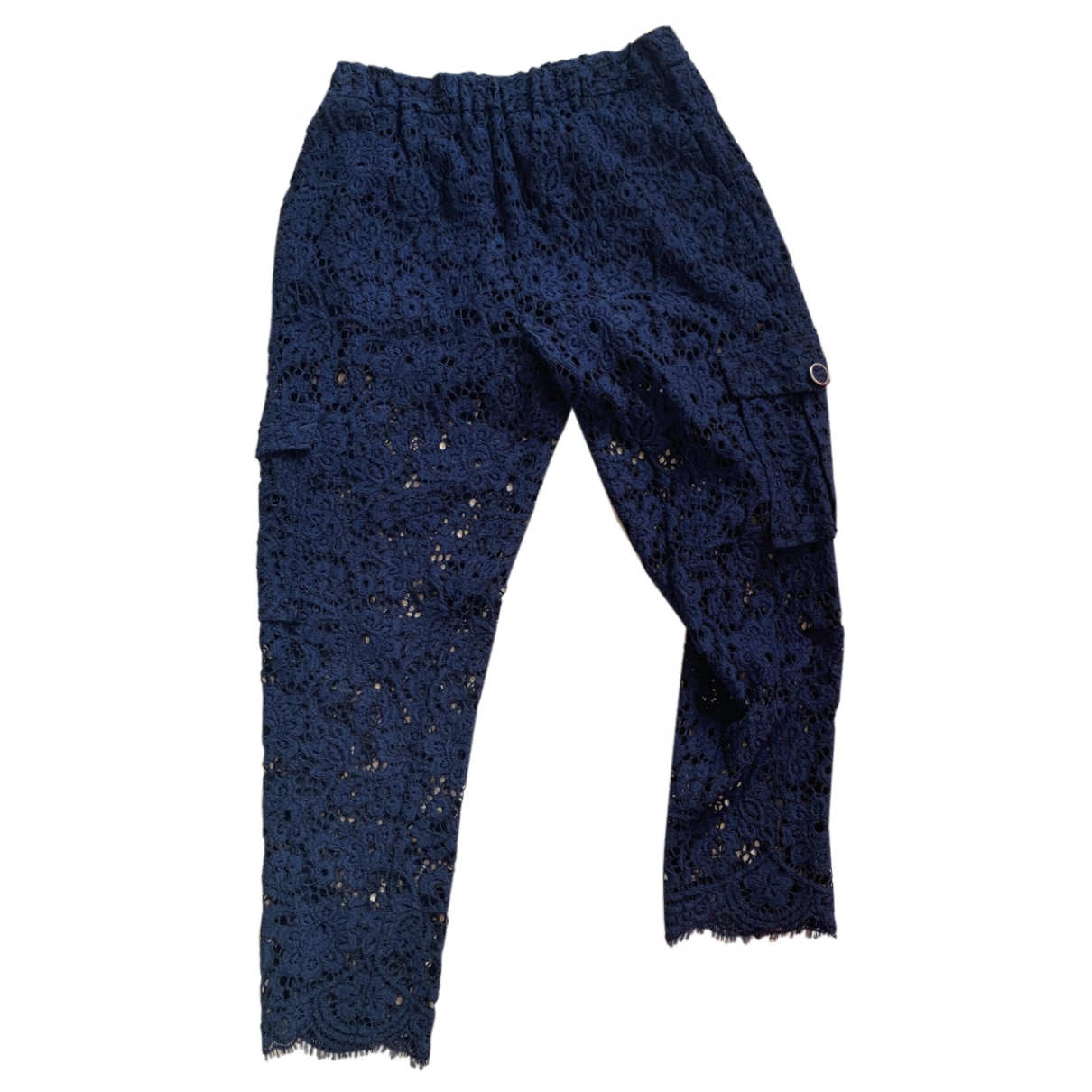 Twin Set \N Blue Cotton Trousers for Women 44 IT