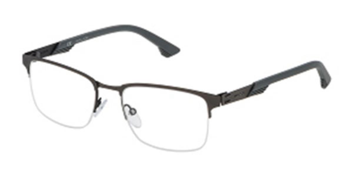 Police VPL481 STORM 3 0S08 Men's Glasses Grey Size 53 - Free Lenses - HSA/FSA Insurance - Blue Light Block Available
