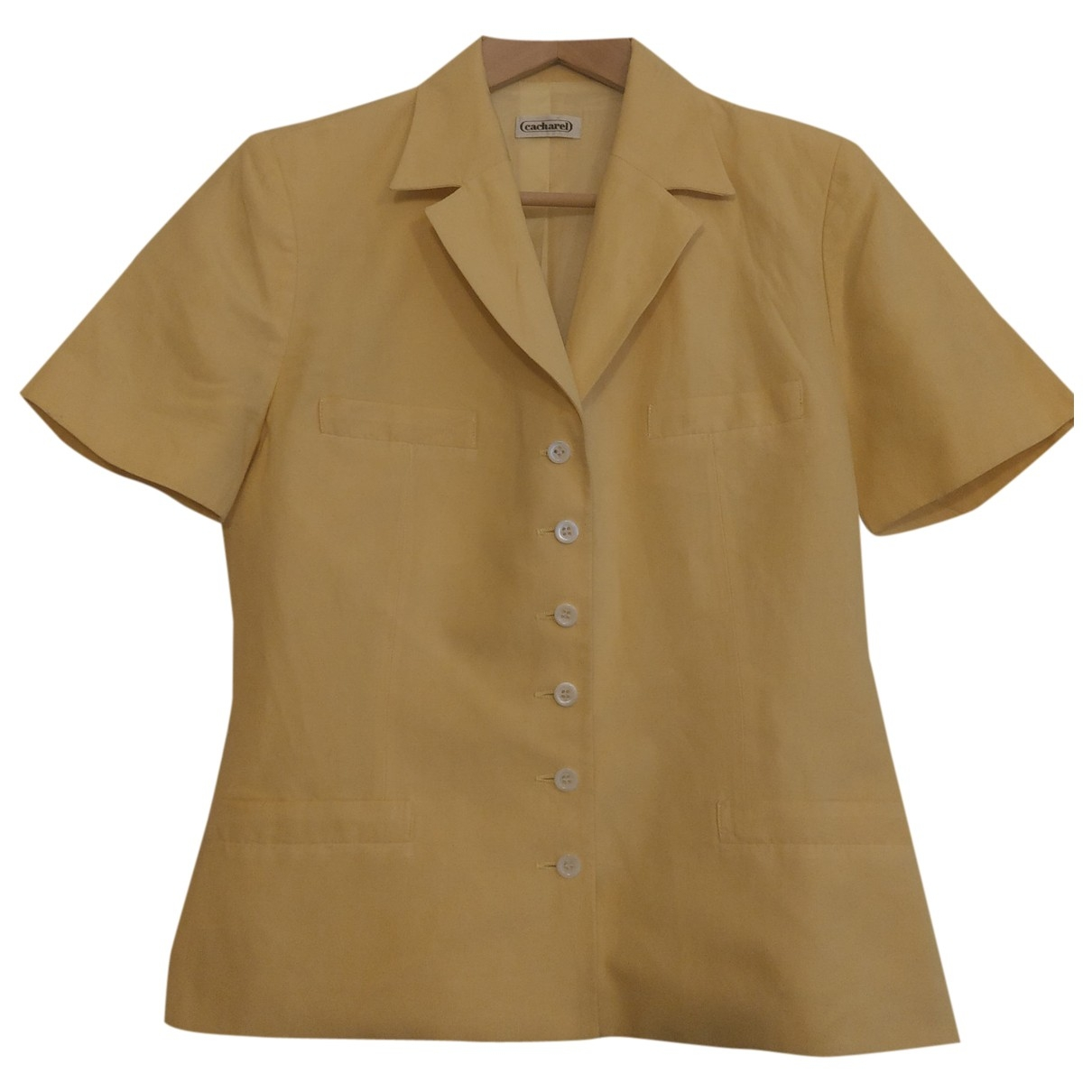 Cacharel \N Yellow Linen jacket for Women 38 FR