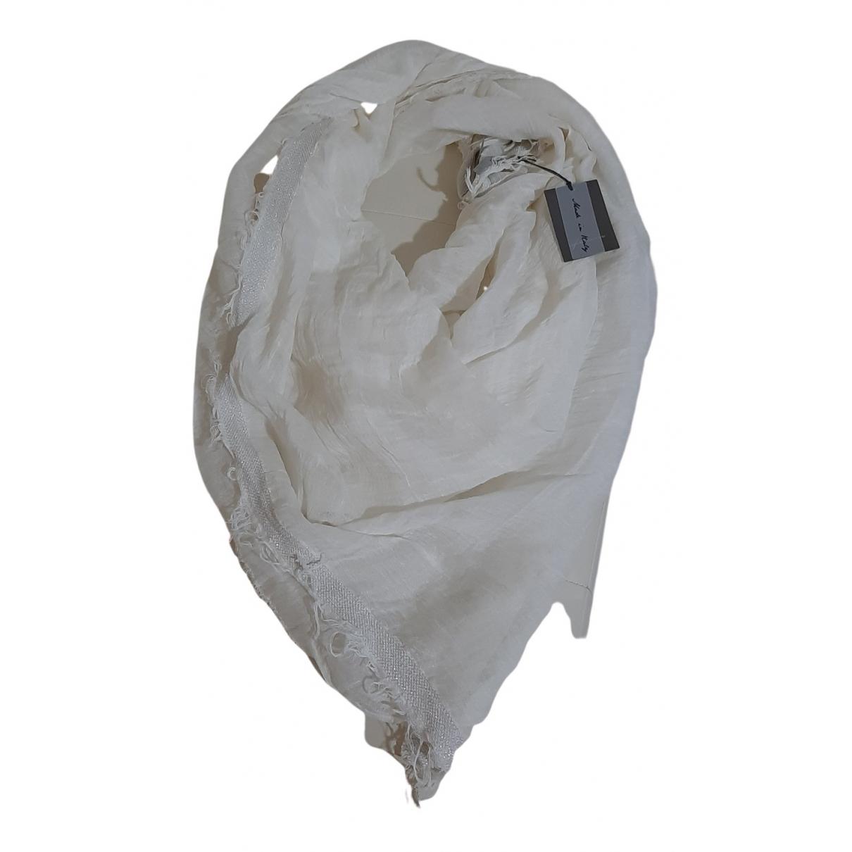 Falconeri N White Linen scarf for Women N
