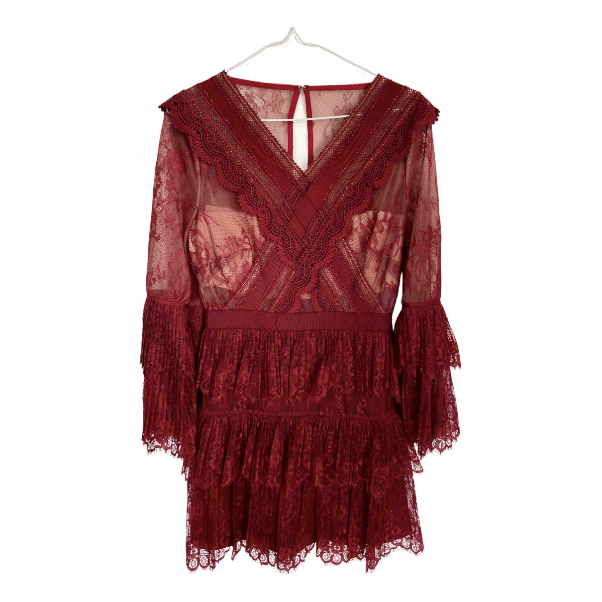 Self Portrait N Burgundy dress for Women 36 FR