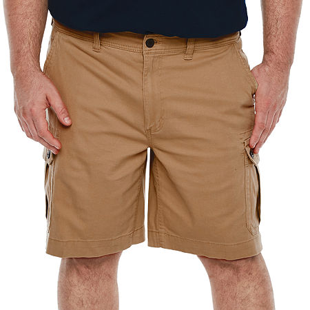 The Foundry Big & Tall Supply Co. Mens Stretch Cargo Short Big and Tall, 46 , Brown