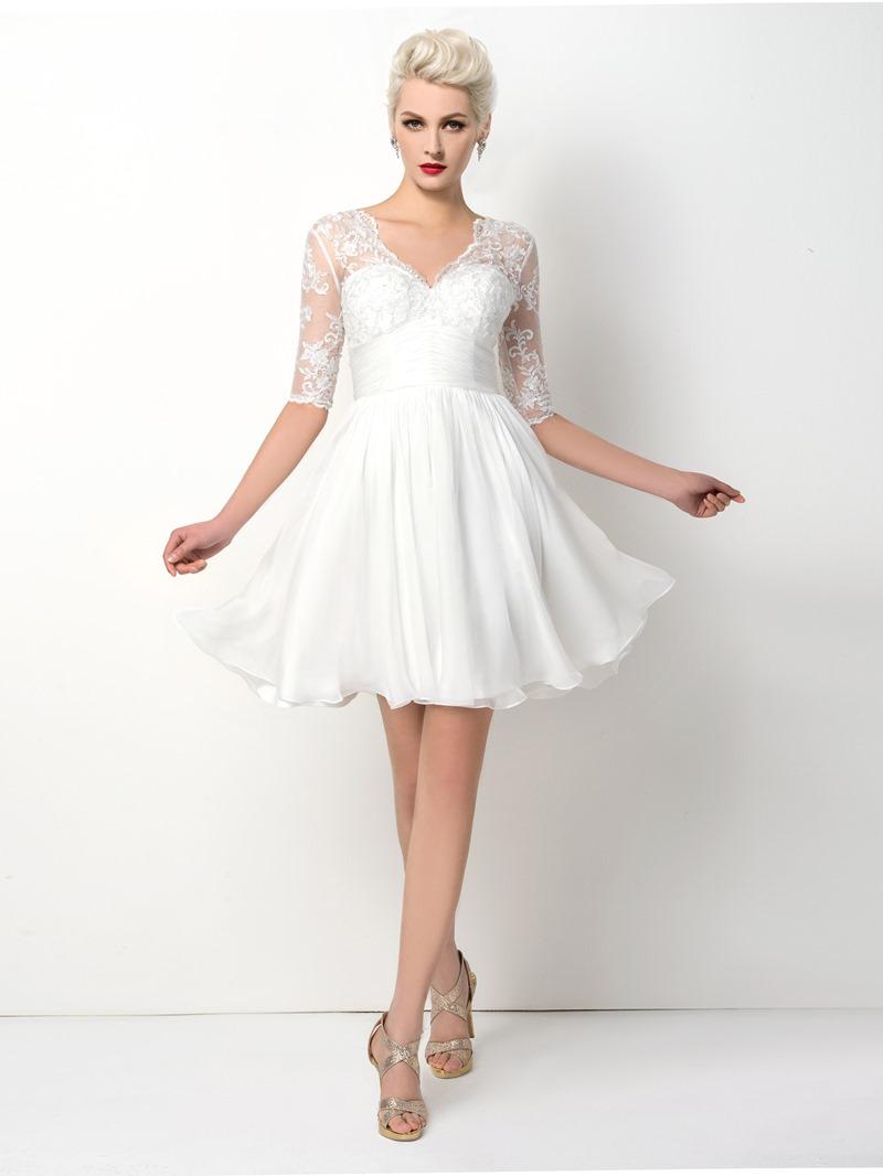 Ericdress Spectacular Half-Sleeve A-Line V-Neck Cocktail Dress