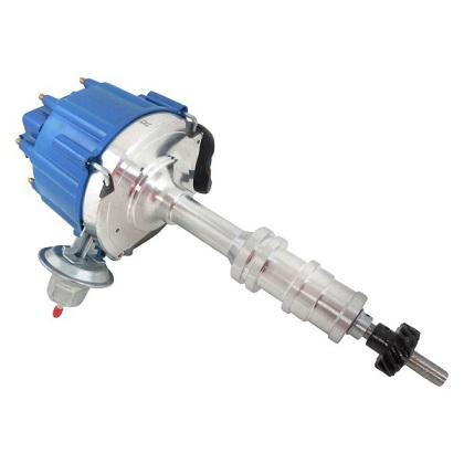 Racing Power Company R3840BLU Distributor - Blue Cap - Ford FE V8