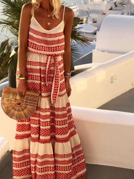 Milanoo Maxi Summer Dress Women Sleeveless Oversized Slip Dress