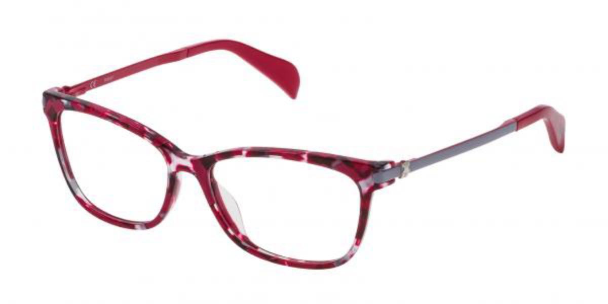 Tous VTO975 0713 Women's Glasses Red Size 53 - Free Lenses - HSA/FSA Insurance - Blue Light Block Available