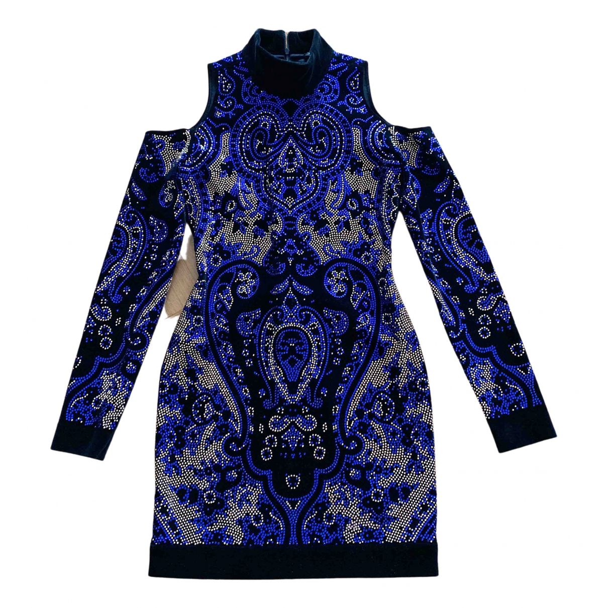 Balmain - Robe   pour femme en coton - bleu