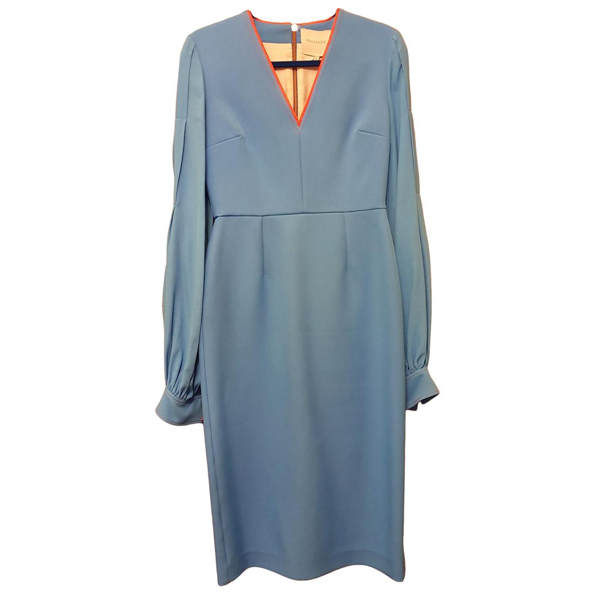 Roksanda \N Kleid in  Blau Viskose