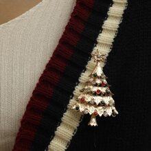 Christmas Tree Design Brooch