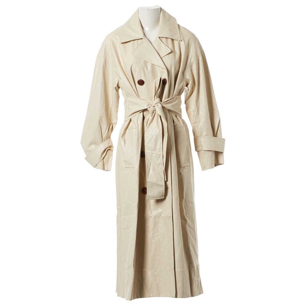 Rejina Pyo X Vestiaire Collective \N Ecru Leather Trench coat for Women L International