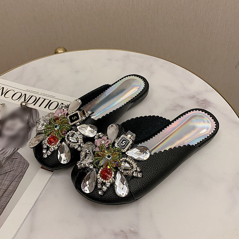 Ericdress Buckle Flat With Closed Toe Casual Slippers