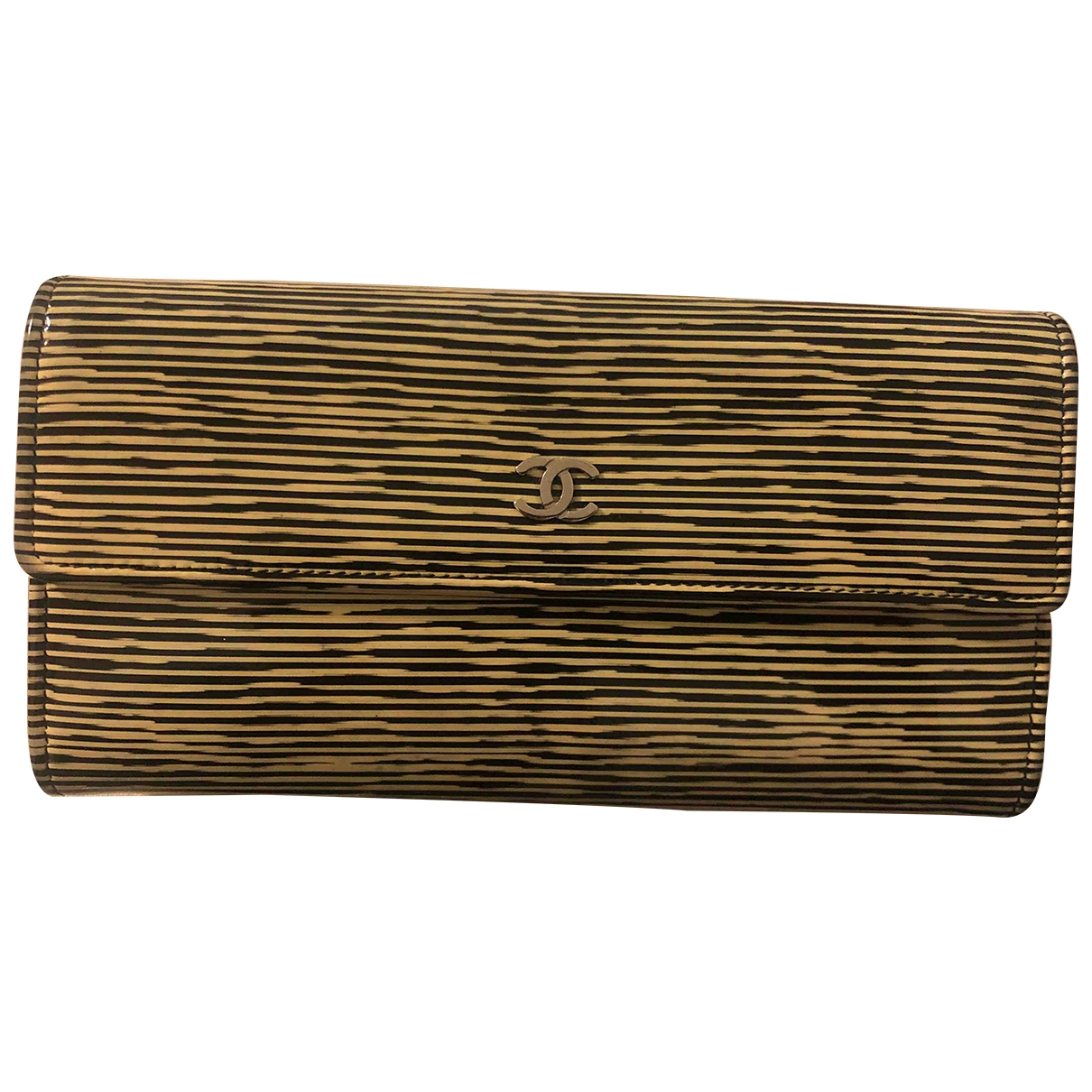 Chanel \N Gold Patent leather wallet for Women \N