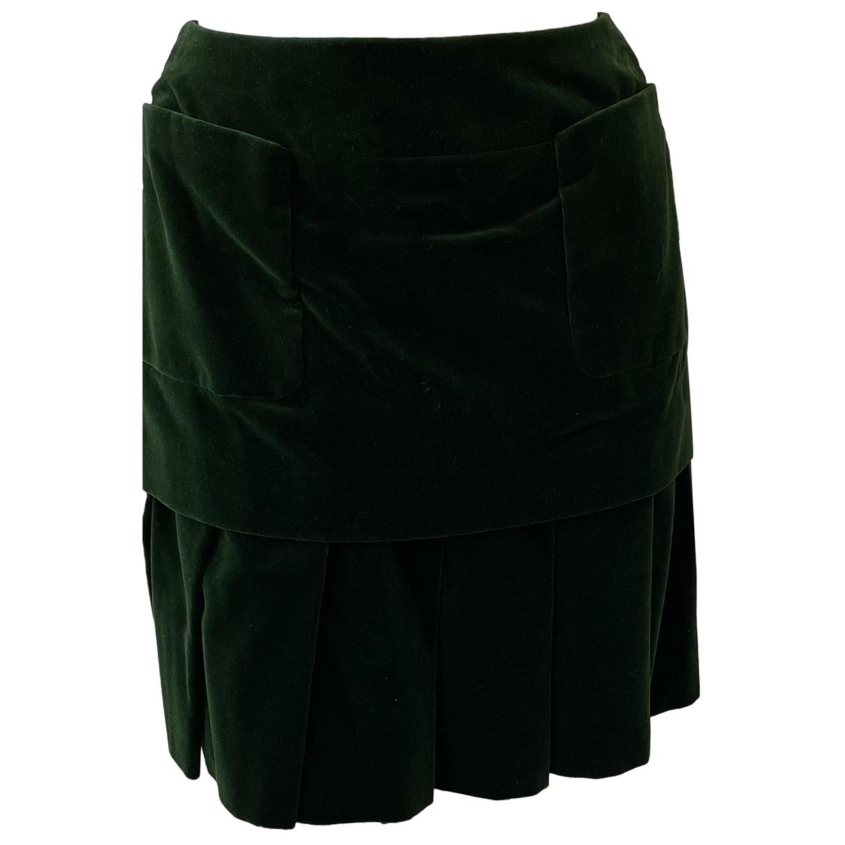 Chanel \N Green Cotton skirt for Women 38 IT