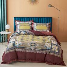 Bettwaesche Set mit koniglichem Muster ohne Fuellstoff
