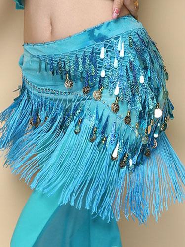 Milanoo Belly Dance Costume Rose Red Polyester Bollywood Dancing Hip Scarf For Women