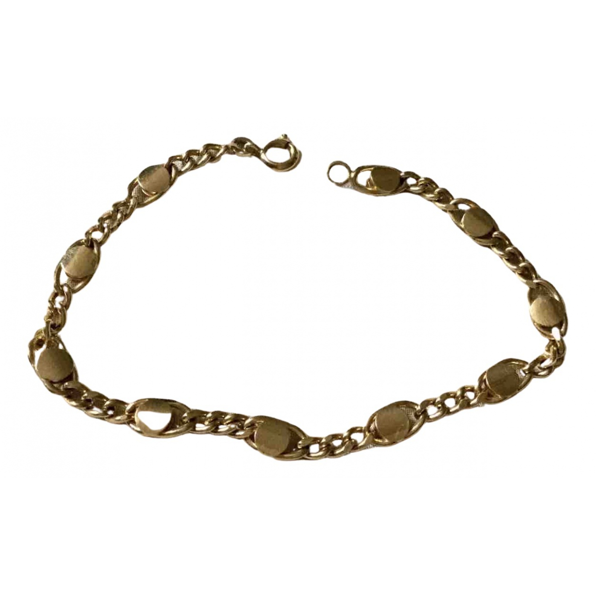 Non Signe / Unsigned Chaines Armband in  Gold Vergoldet