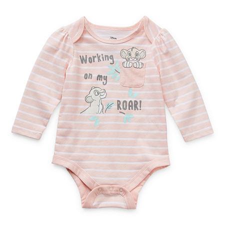 Okie Dokie Baby Girls The Lion King Bodysuit, Newborn , Pink