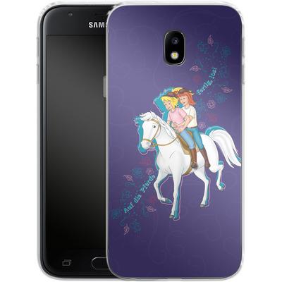 Samsung Galaxy J3 (2017) Silikon Handyhuelle - Bibi und Tina Pferd von Bibi & Tina