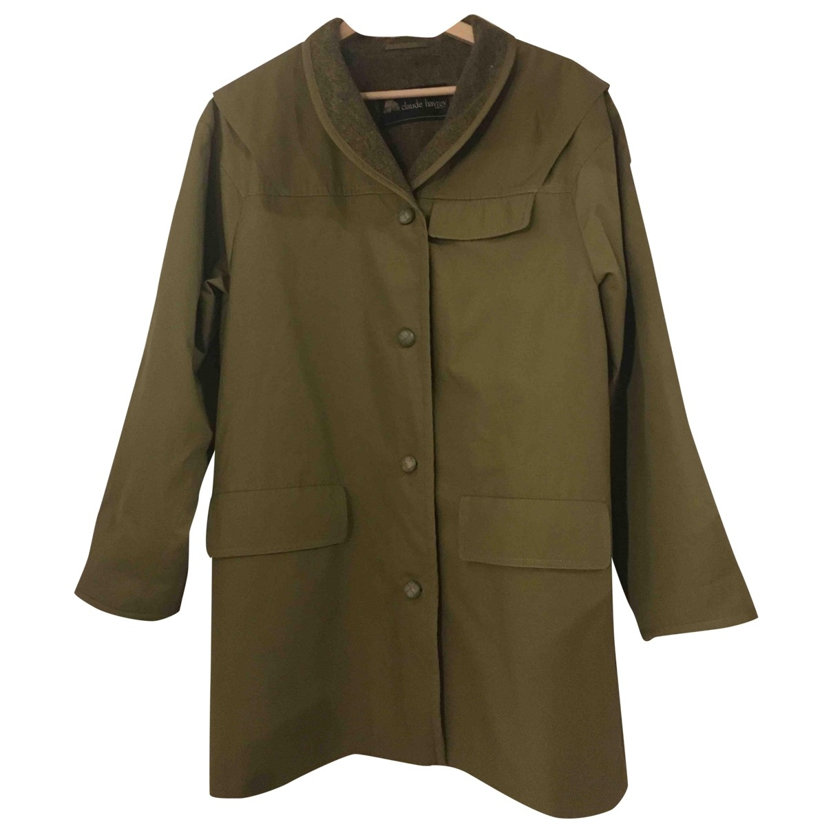 Non Signé / Unsigned \N Khaki Wool coat for Women 38 FR