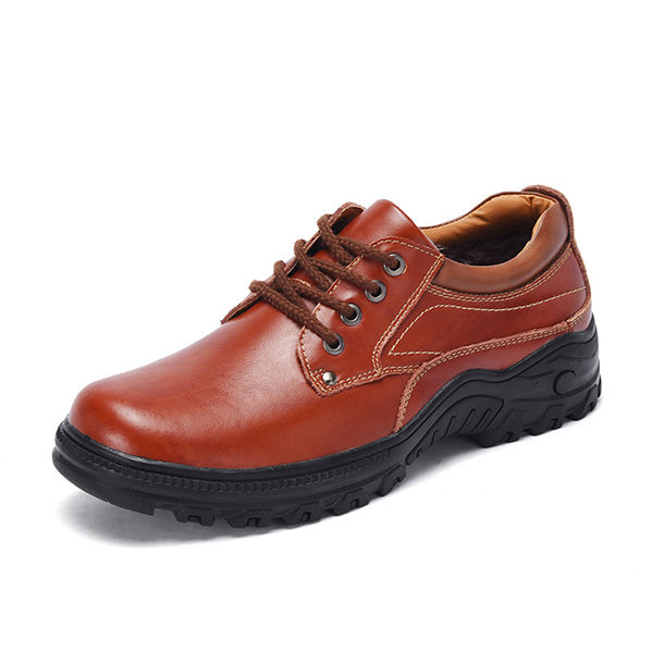 Men Outrdoor Slip Resistant Leather Work Shoes