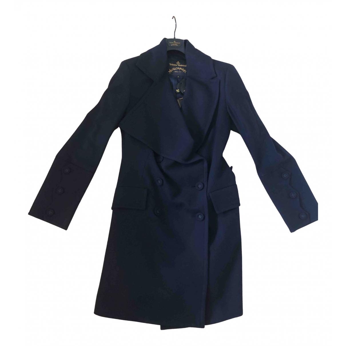 Vivienne Westwood Anglomania \N Maentel in  Marine Wolle