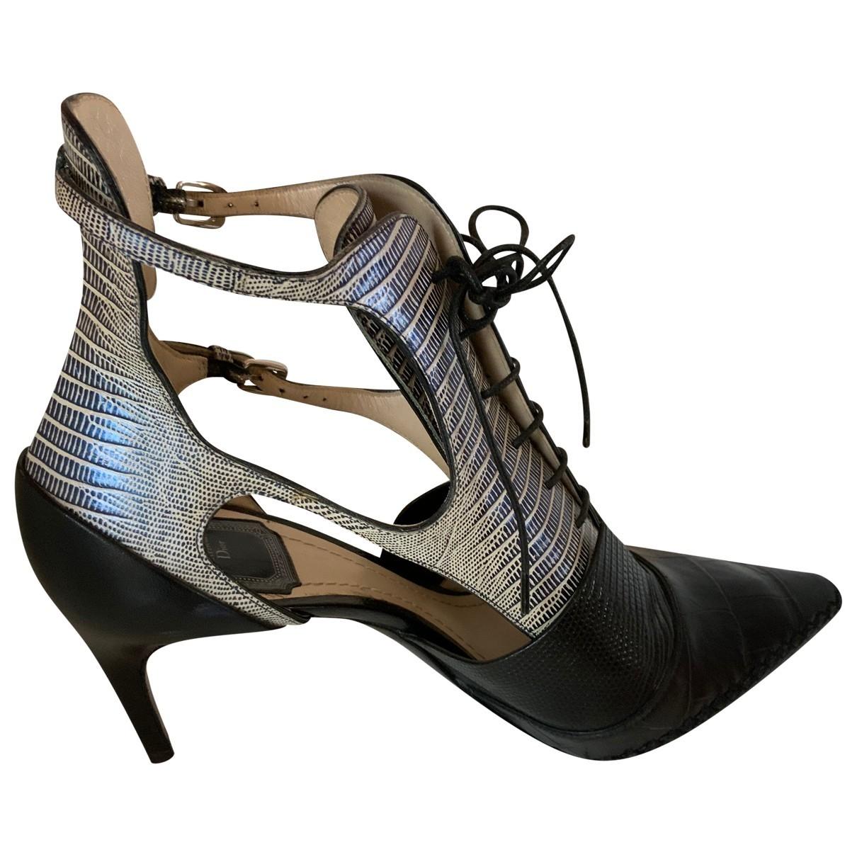 Christian Dior - Escarpins   pour femme en cuir - noir