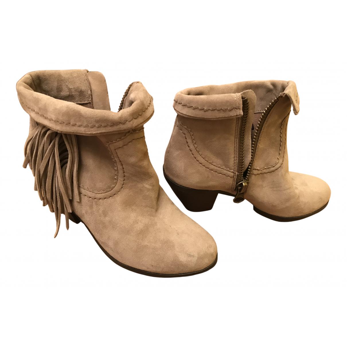 Sam Edelman N Grey Suede Ankle boots for Women 35 EU