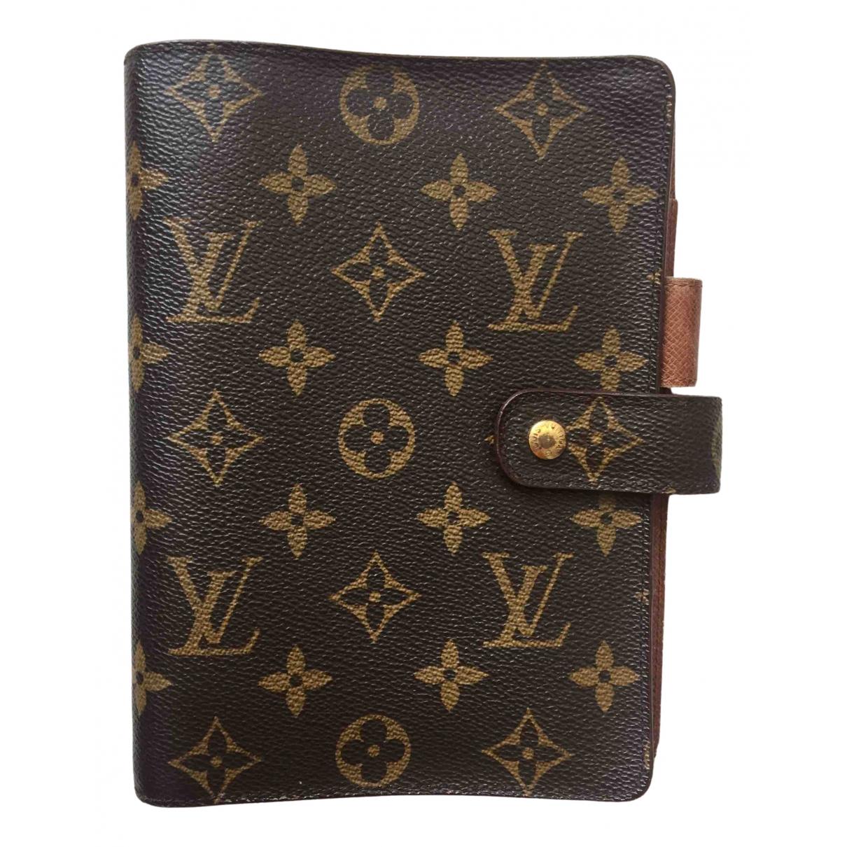 Louis Vuitton Couverture d'agenda PM Brown Leather wallet for Women \N