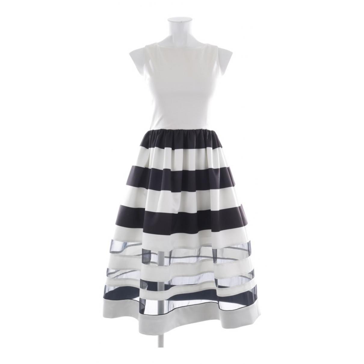 Alice & Olivia \N Kleid in  Weiss Synthetik