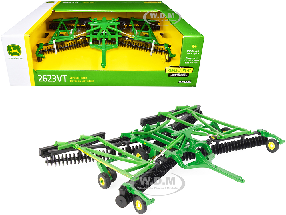 John Deere 2623VT Vertical Tillage Disc with Folding Wings 1/32 Diecast Model by ERTL TOMY