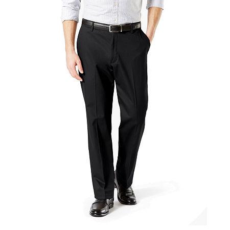 Dockers Men's Classic Fit Signature Khaki Lux Cotton Stretch Pants D3, 36 30, Black