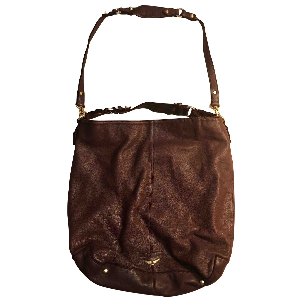 Zadig & Voltaire Rock Burgundy Leather handbag for Women \N