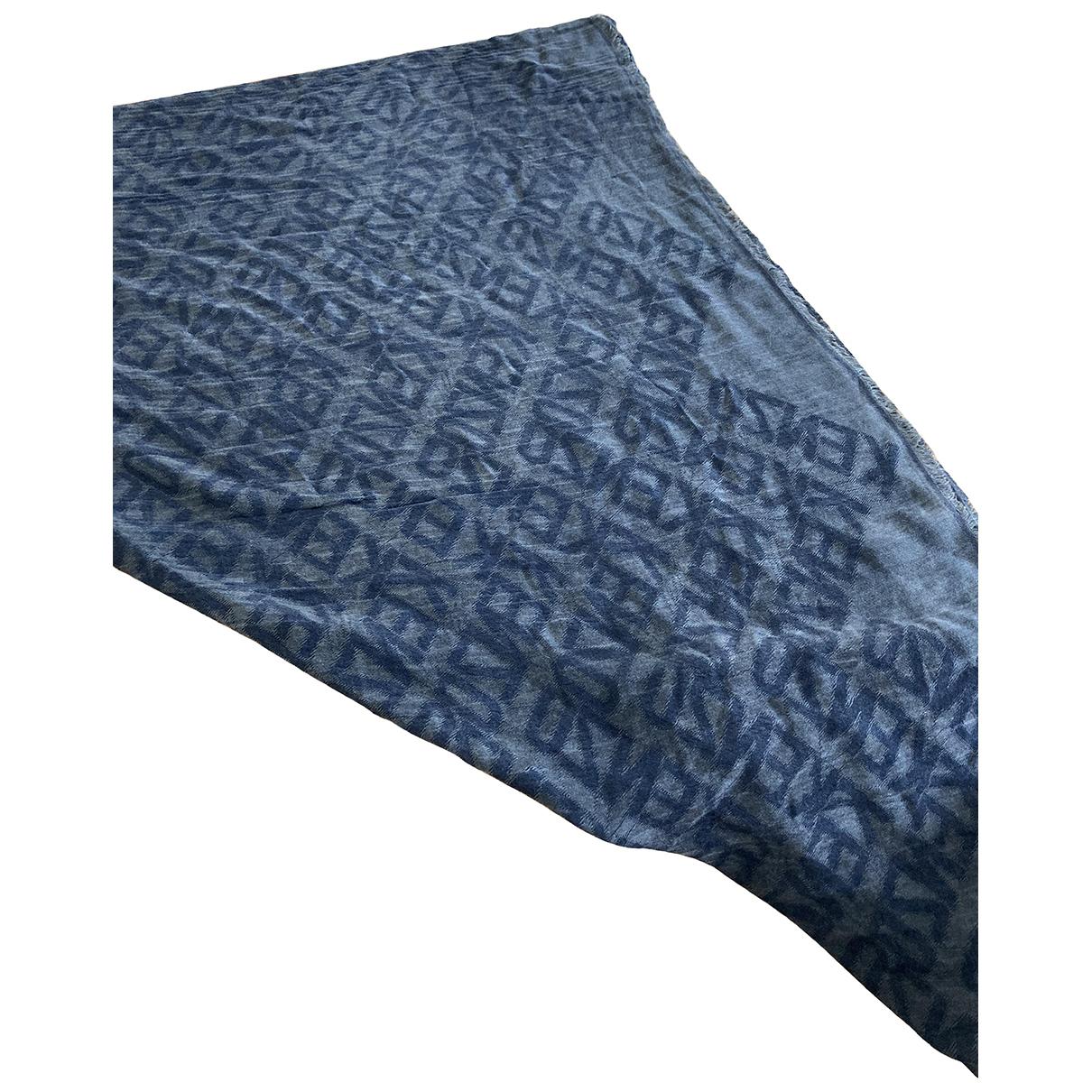 Kenzo - Foulard   pour femme en coton - bleu