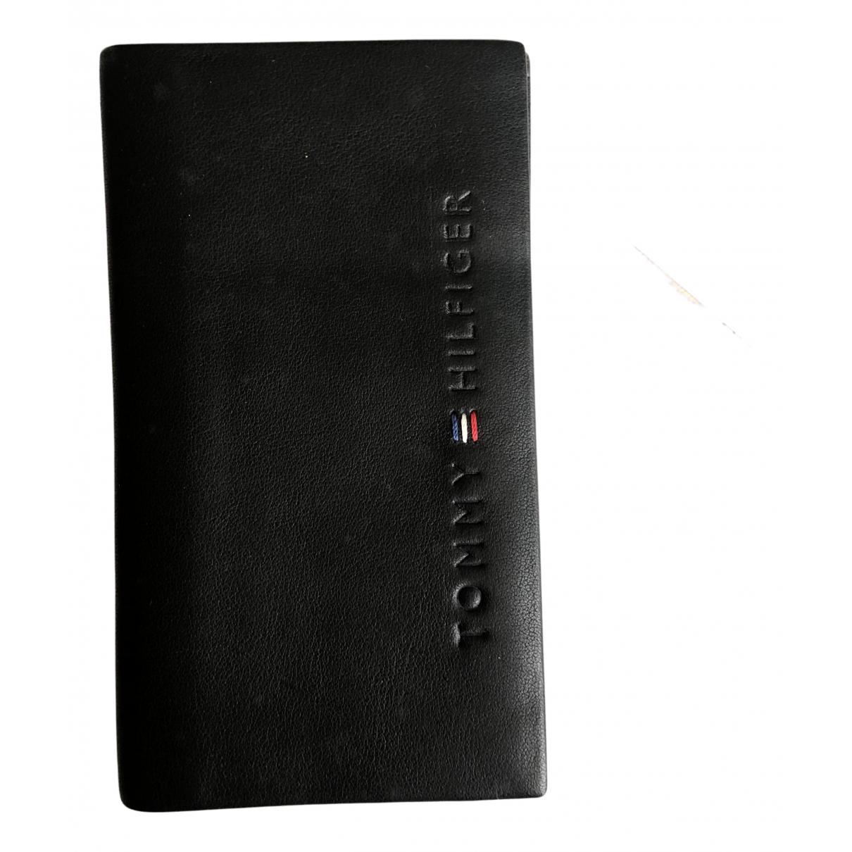 Tommy Hilfiger - Portefeuille   pour femme en cuir - noir