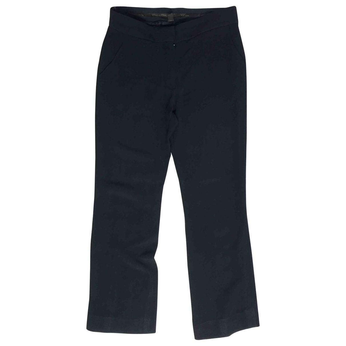 Louis Vuitton \N Blue Trousers for Women 38 FR