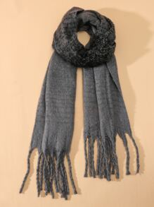 Simple Braided Tassel Scarf