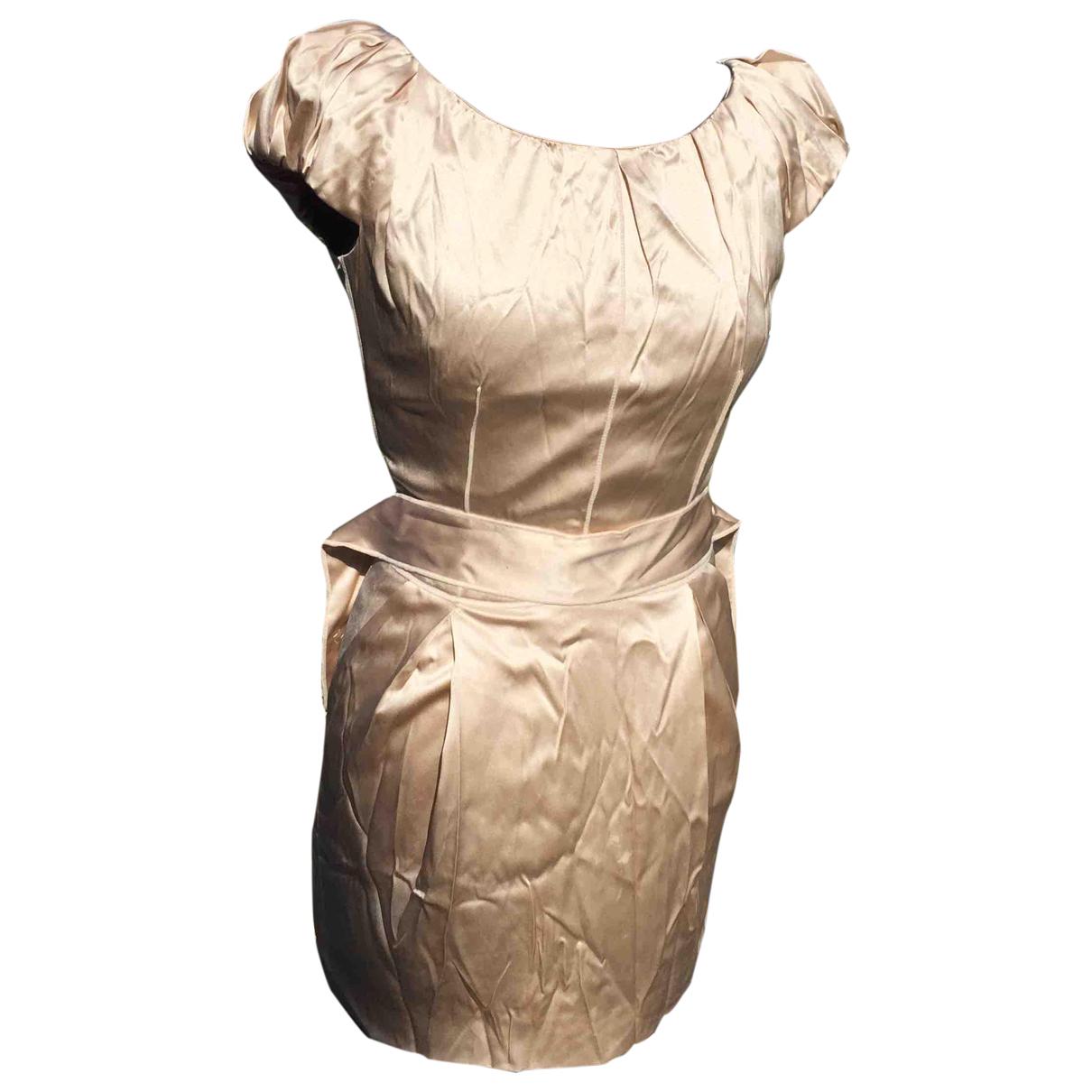 Dolce & Gabbana \N Beige Silk dress for Women 38 IT