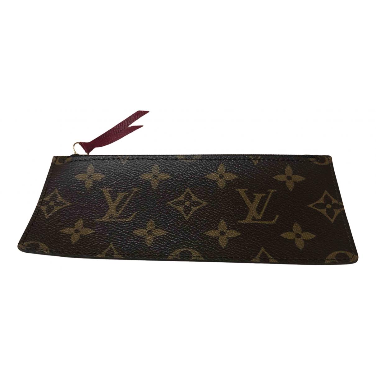 Louis Vuitton Adele Kleinlederwaren in  Braun Leinen