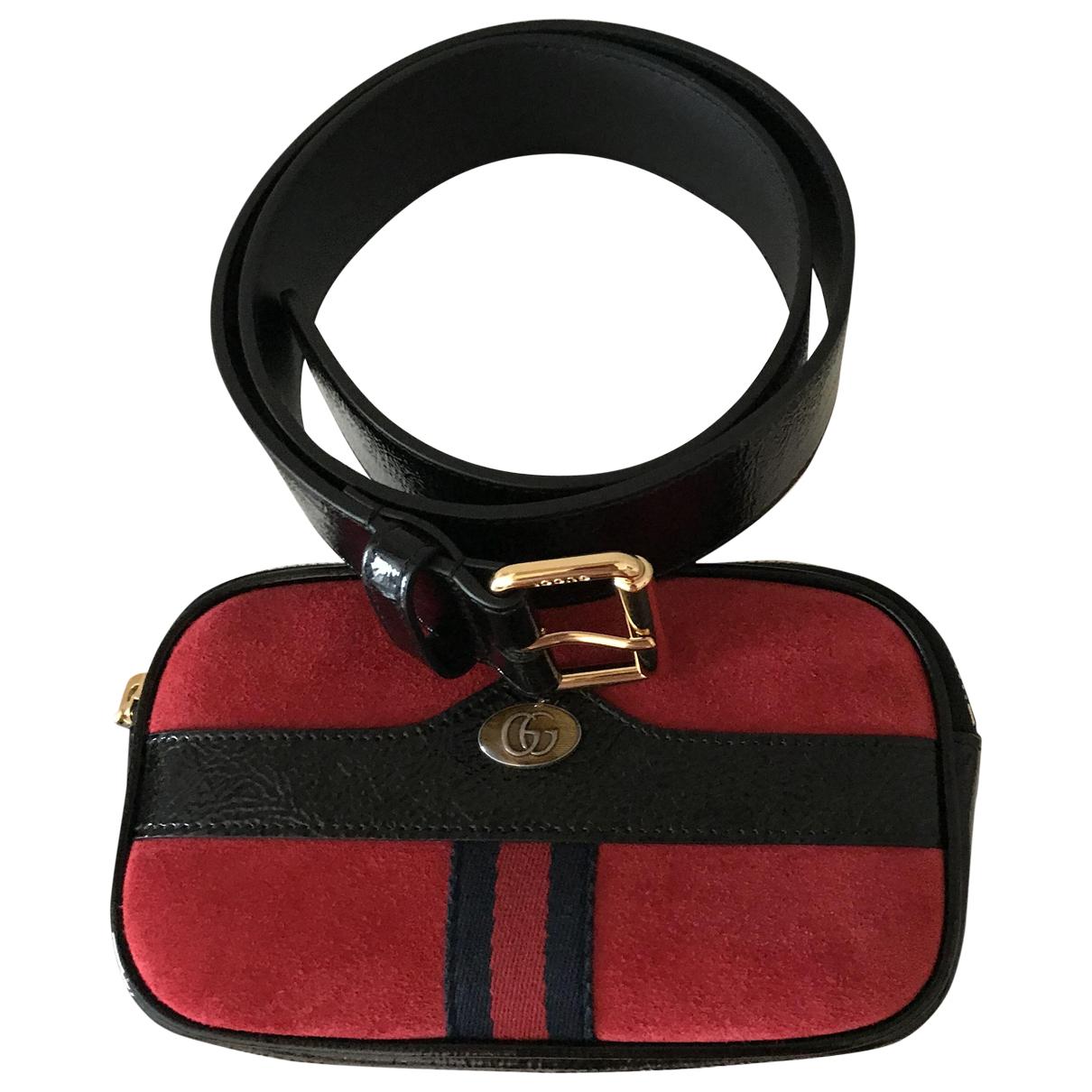 Bolsos clutch Ophidia en Ante Rojo Gucci
