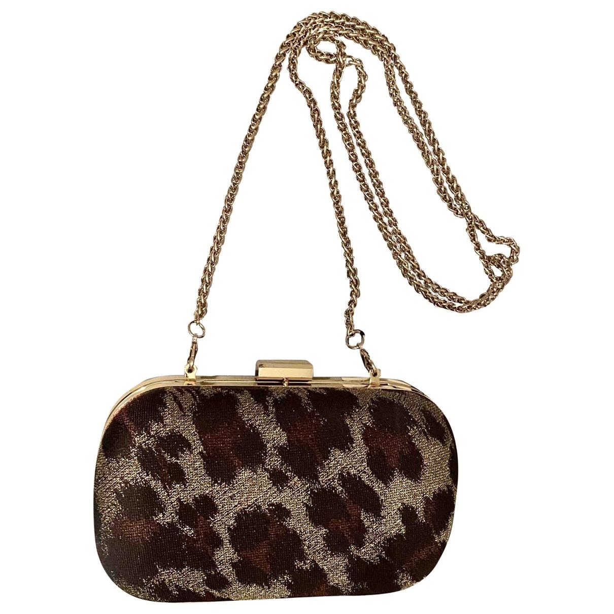 Karen Millen \N Gold Cotton Clutch bag for Women \N