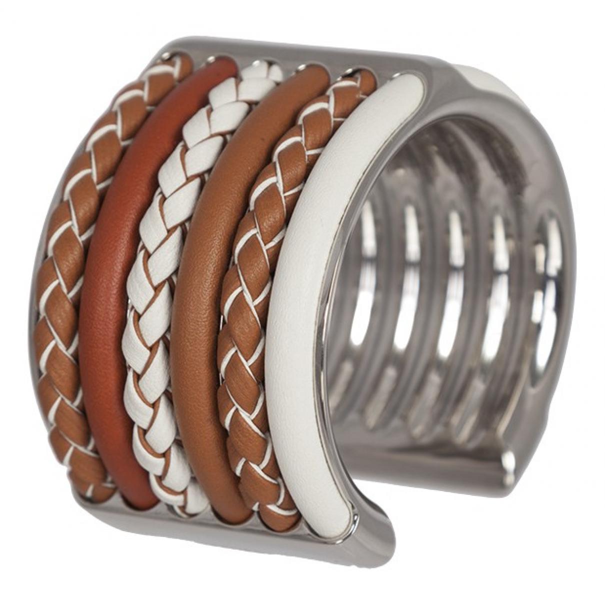 Hermes - Bracelet   pour femme en metal - marron