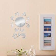 Pegatina de pared de espejo en forma de girasol