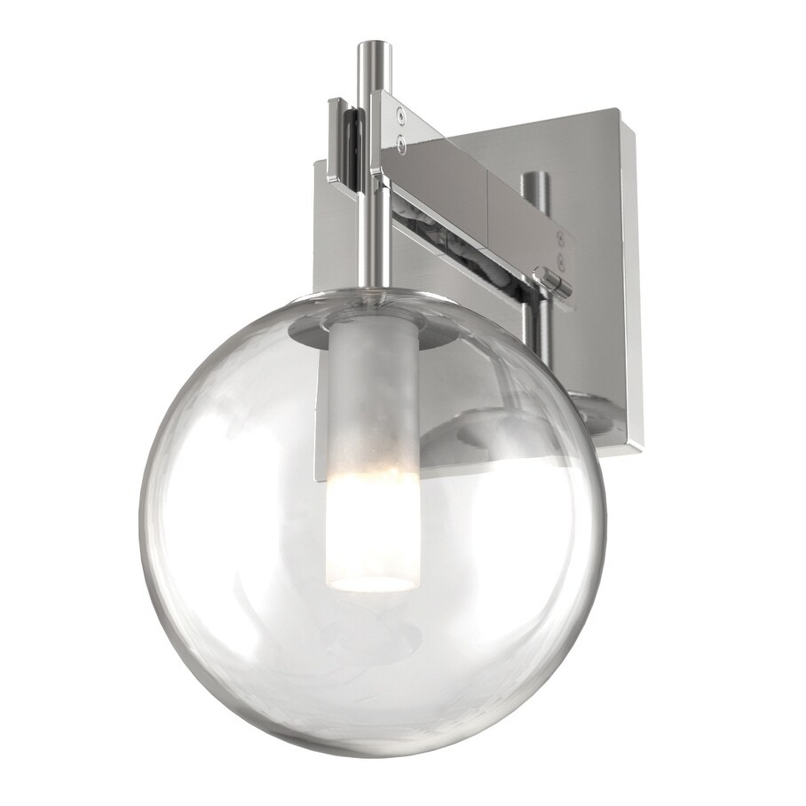 DVI Lighting DVP27001CHCL One Light Wall Sconce Courcelette Chrome w - One Size (One Size - Clear)