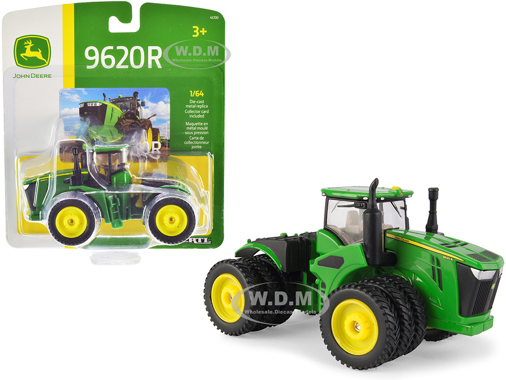 John Deere 9620R Tractor with Triple Front and Rear Wheels 1/64 Diecast Model by ERTL TOMY
