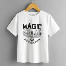 Boys Letter Graphic Print Tee